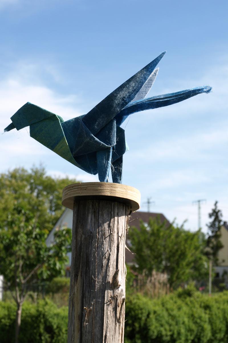 Origamivogel, Geofliesreste