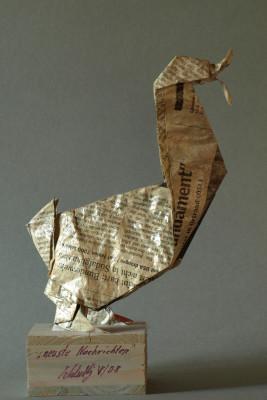 """Kunstobjekt """" neuste Nachrichten"""", Zeitungsseite,2008"""