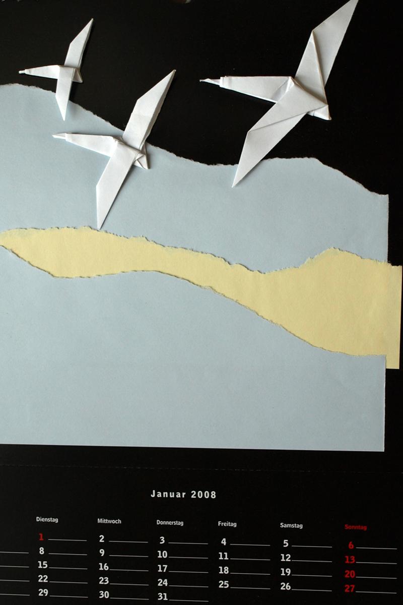 Kalenderblattgestaltung, 2008