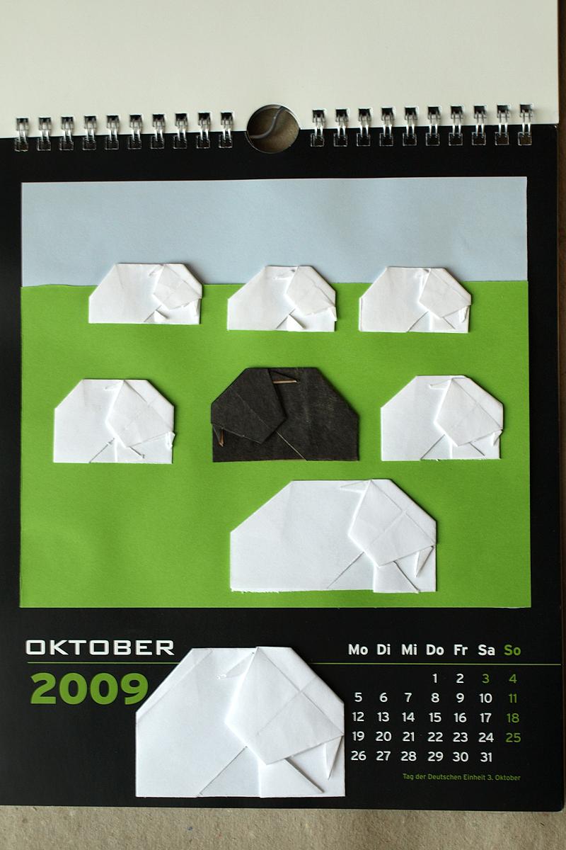 Kalenderblattgestaltung, 2009