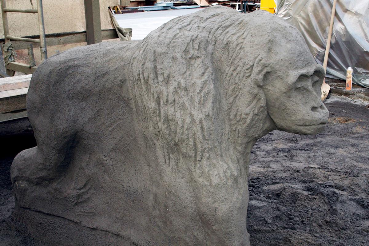 Affenskulptur für britischen Kunden 2009