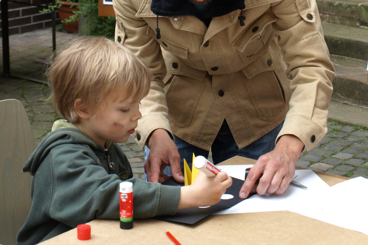 Gestaltung Pop-up mit Kindern, Workshop, 2014