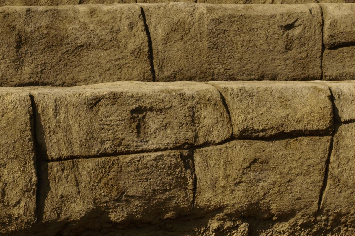 Strukturdetail Großblockmauer